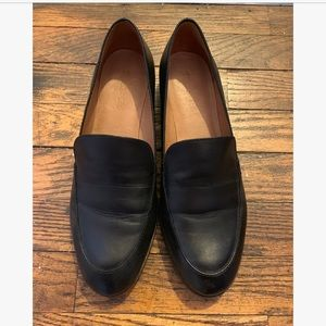 Madewell black leather loafers